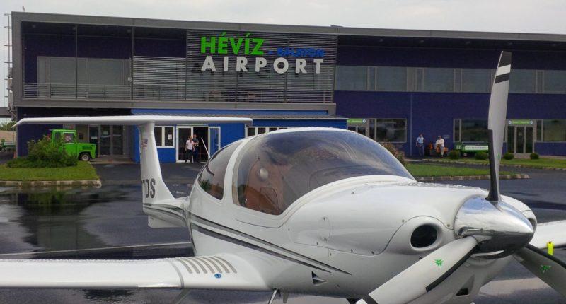 Hévíz Airport, flight, Hungary