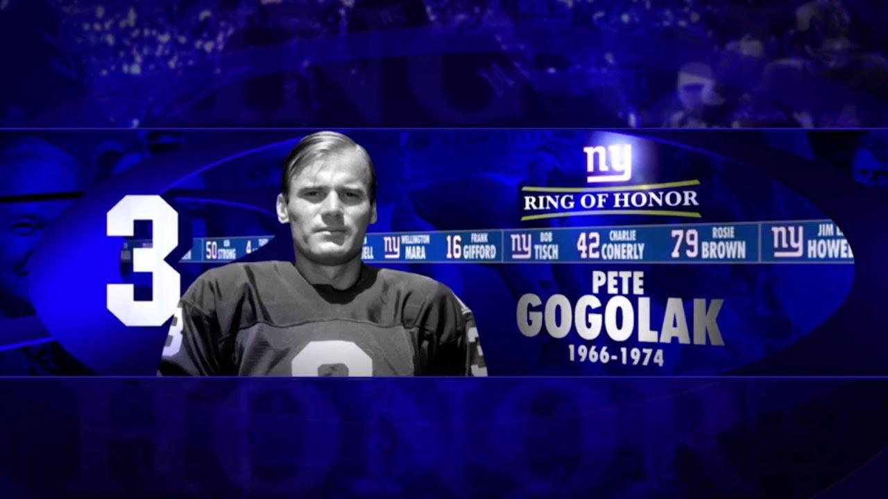Pete Gogolak Giants Ring of Honor