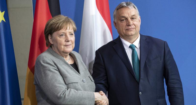 ORBÁN Viktor; MERKEL, Angela in Berlin