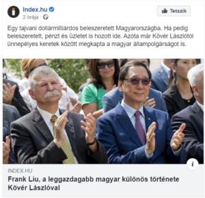 Frank Liu wealthiest Hungarian Taiwan