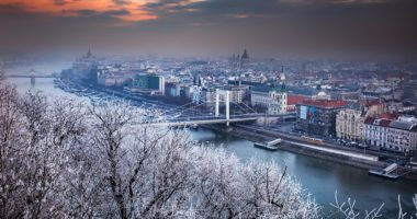 wintery budapest