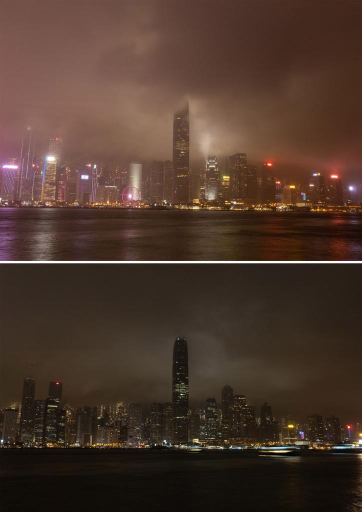 Earth Hour in Hongkong