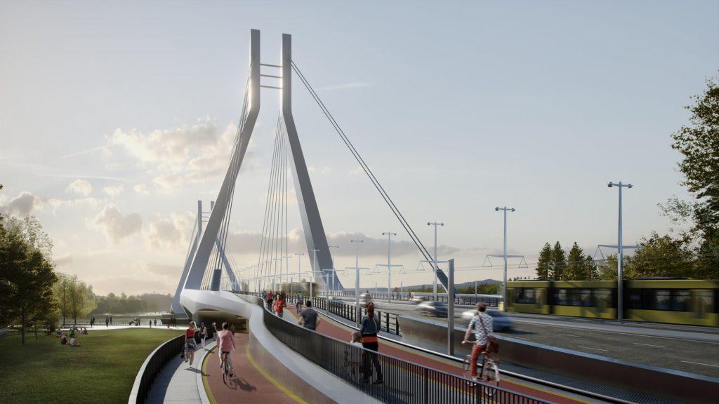 Galvani Bridge, Budapest, Danube, Hungary