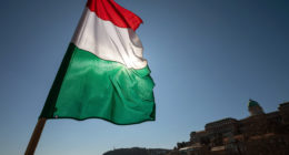 Hungary-flag-Hungarian-capital-Budapest-castle