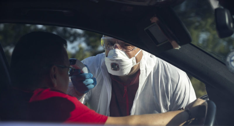 coronavirus border check-up
