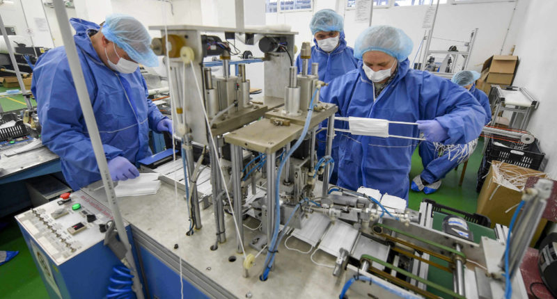 coronavirus mask production