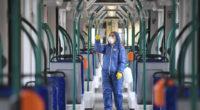 coronavirus cleaning trams