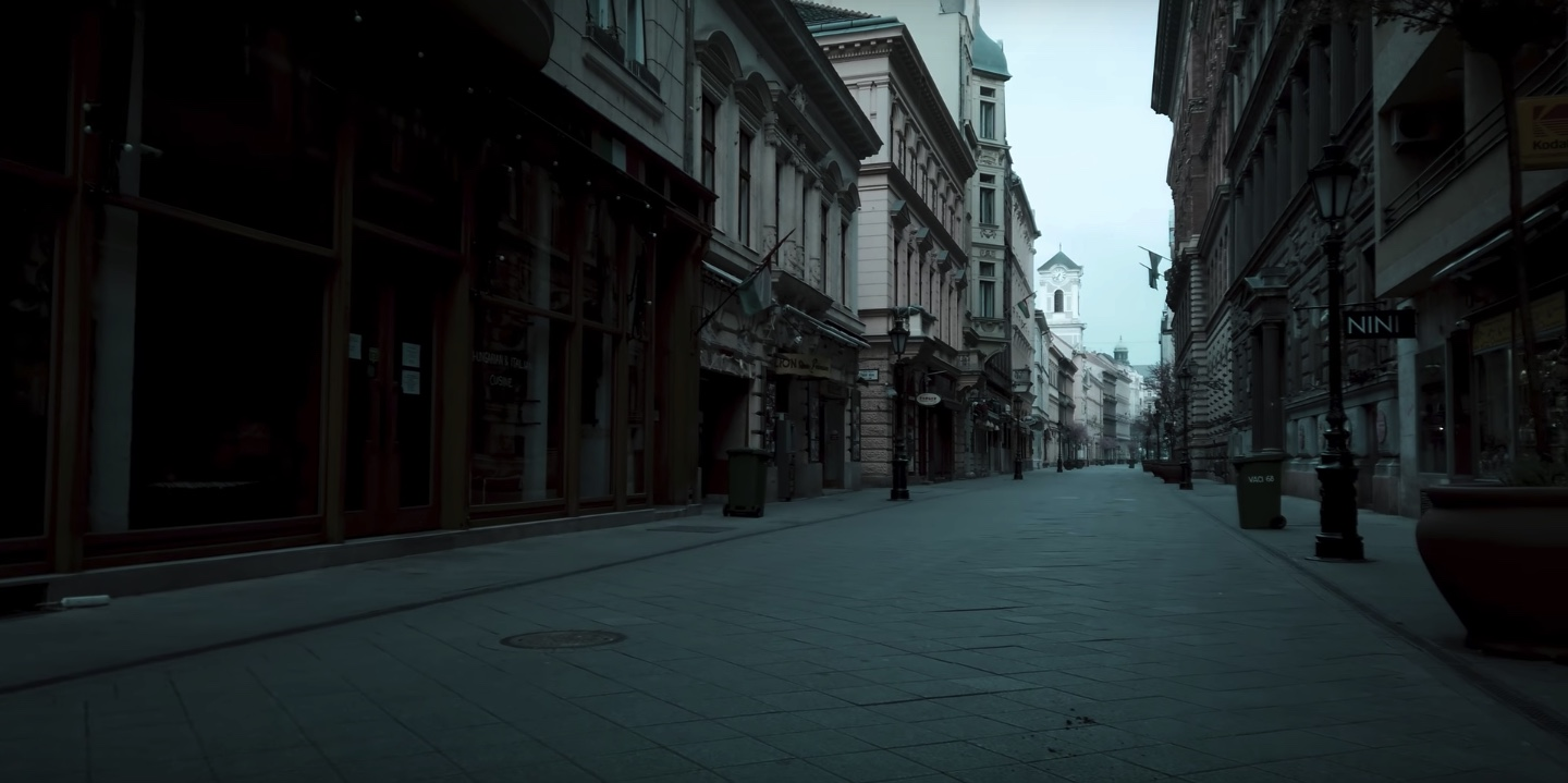 empty streets of budapest covid 19
