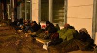 migrants on the street