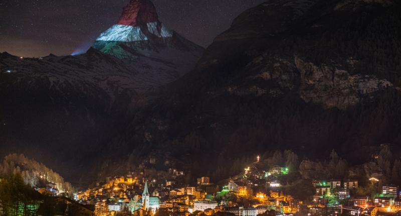 Hungary Matterhorn flag
