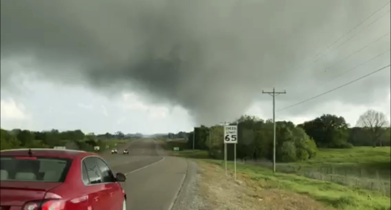 At least five people were killed and more than a dozen injured Wednesday as severe weather hit the U.S. states of Oklahoma and Texas