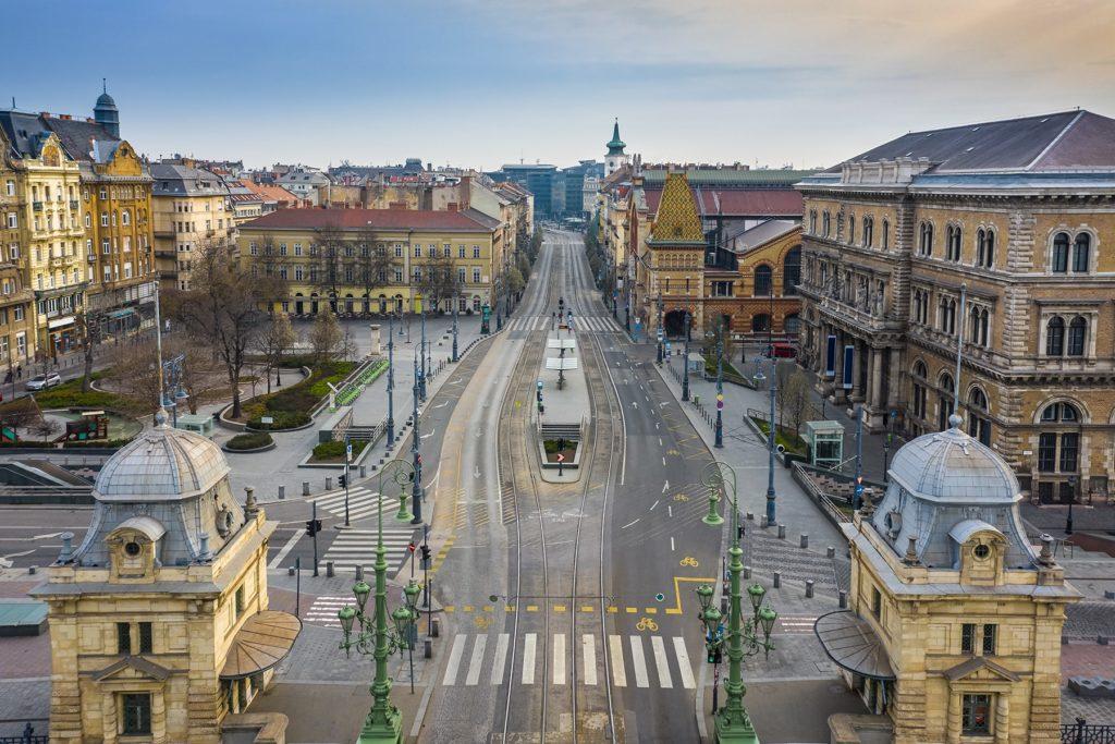 Budapest, Fővám Square, Hungary