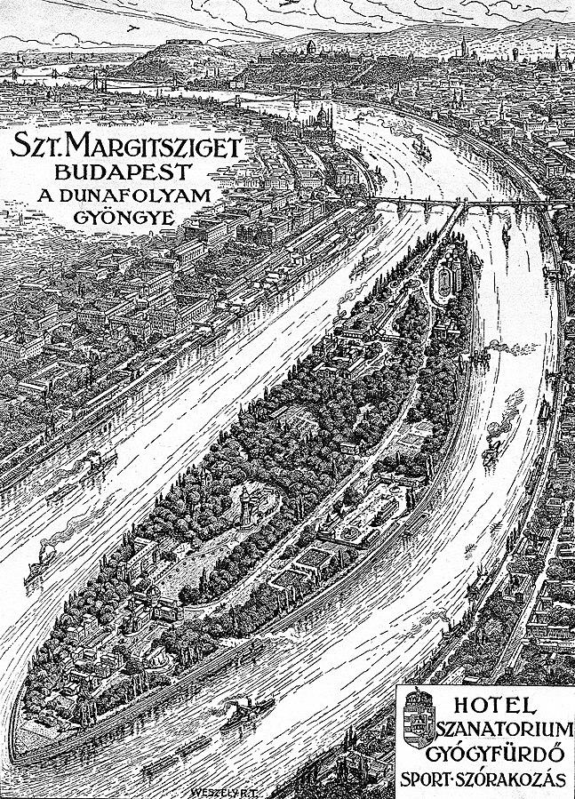 Margit-sziget, Margaret Island map