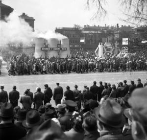 May 1, marching, Budapest, Hungary