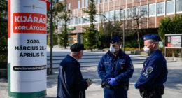 corona curfew police check