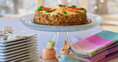 easter carrot cake bunny