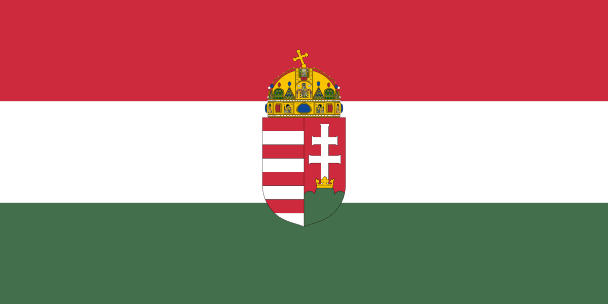 Hungarian flag with coat of arms