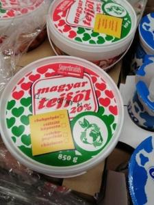 sour cream, box, Hungary