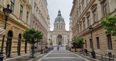 Budapest city center Basilica tourism