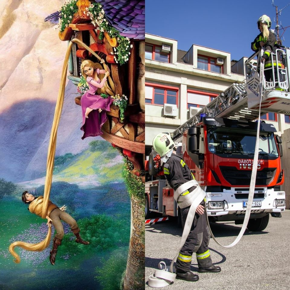 Children's Day Hungarian Firefighters Disney Rapunzel
