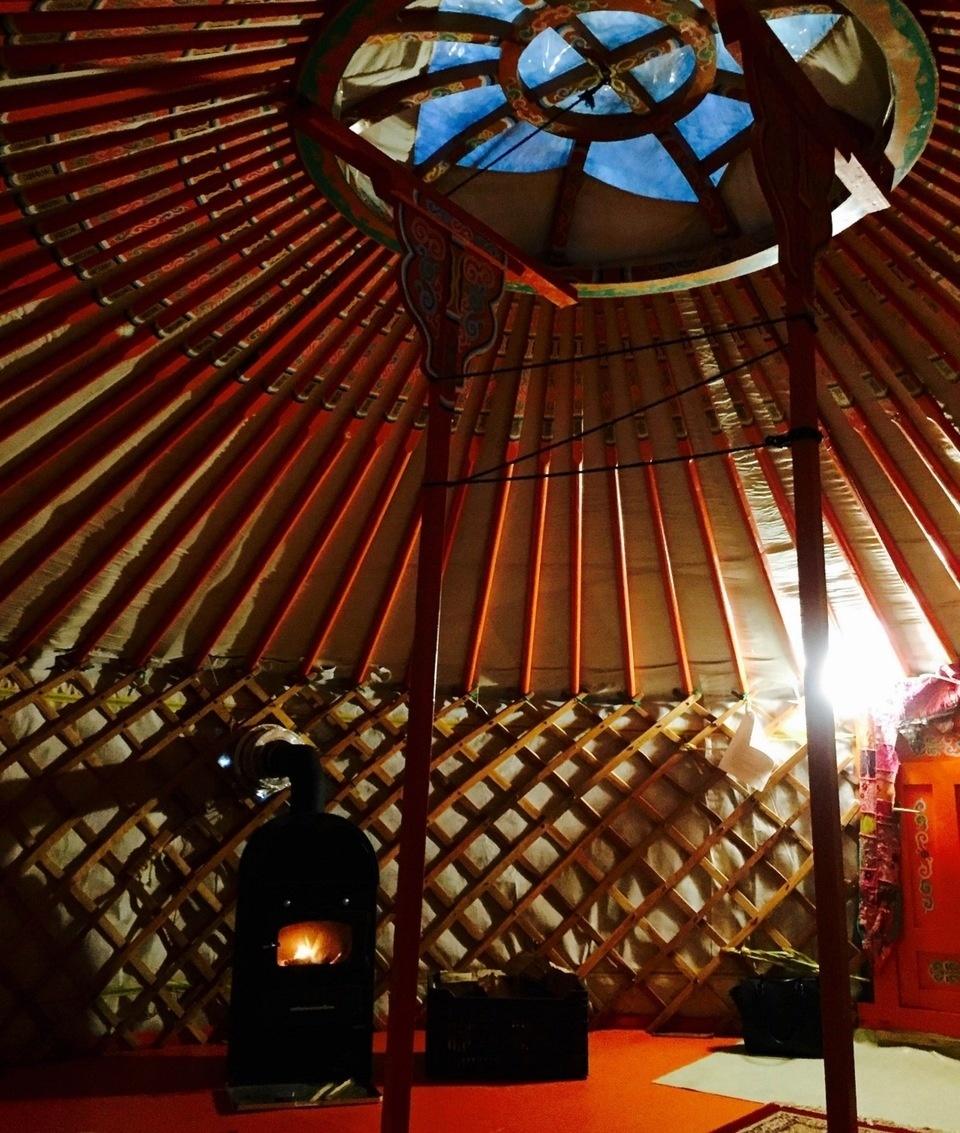 Jurta Yurt Fireplace Kályha