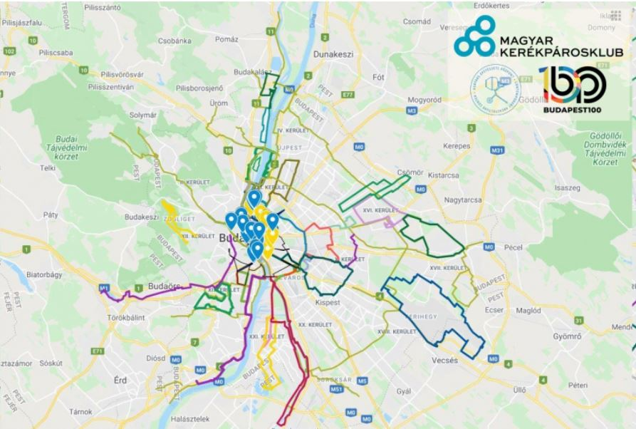 Bike Route map Budapest