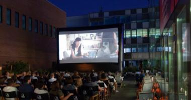 Kultik terasz, cinema, Budapest, Hungary