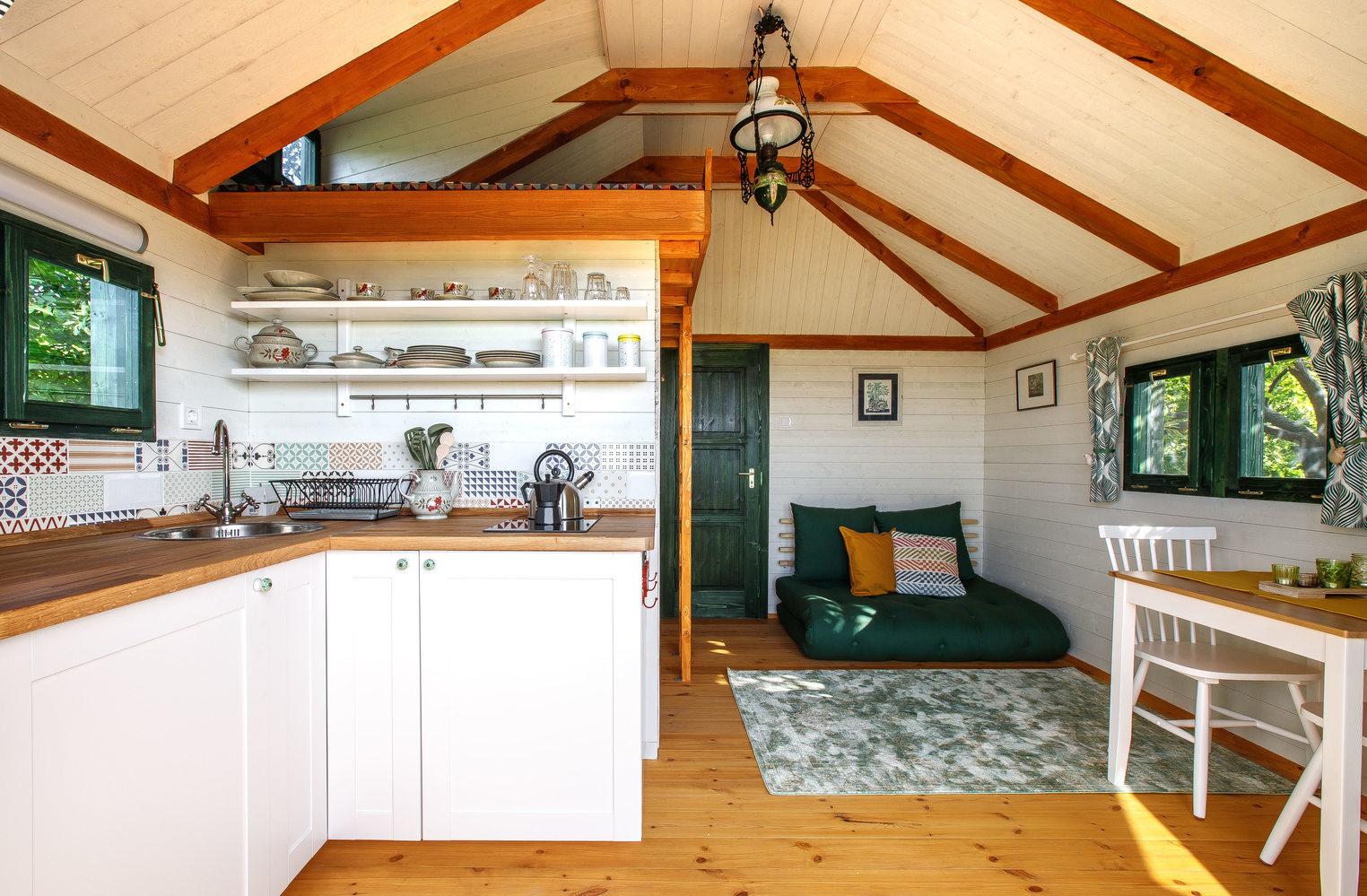 Zöld Fészek Green Nest Lombház Canopy House Belül Inside