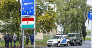 border Hungary flag EU