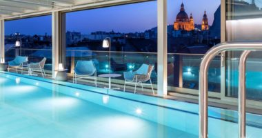 Cortile Hotel Sky Bar and Pool Panorama