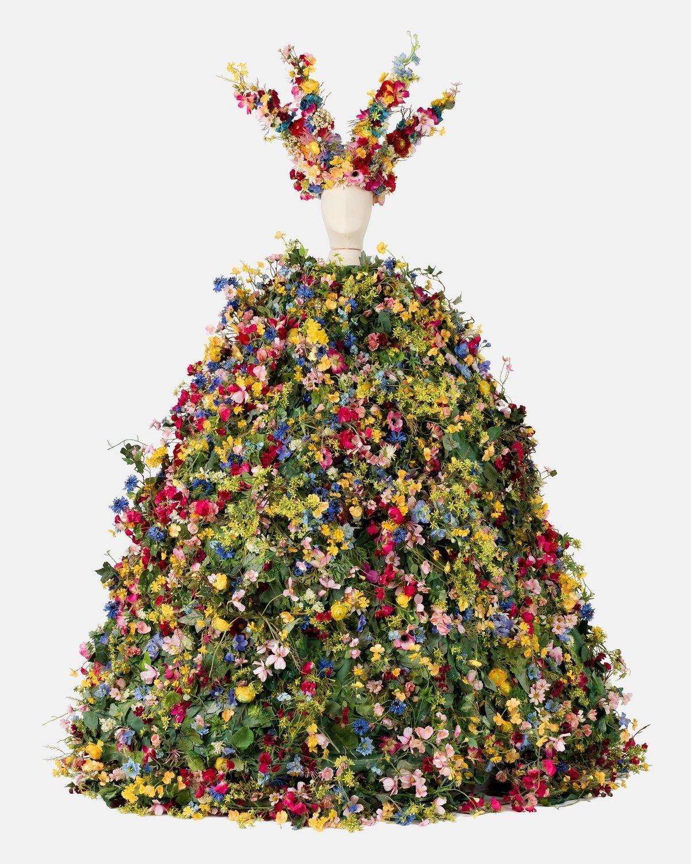 Flower Dress Crown Virág Ruha Korona