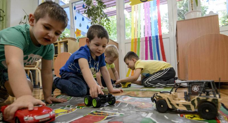 Hungarian kindergarden kids