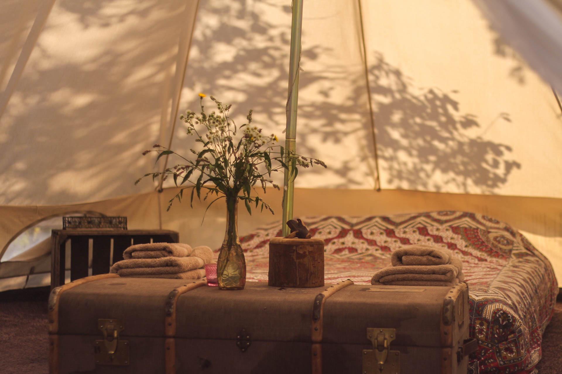 Hunza Ecolounge Glamping Sátor Tent Belülről Inside