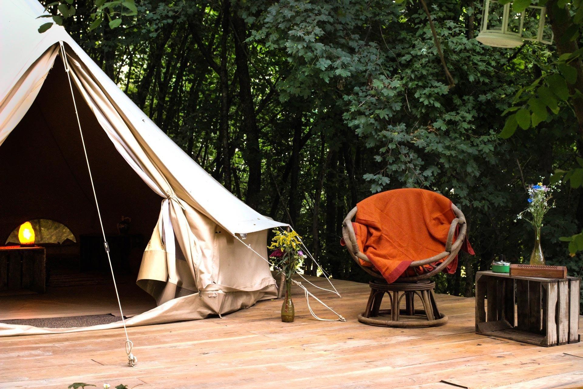 Hunza Ecolounge Glamping Sátor Tent Kívülről Outside 2