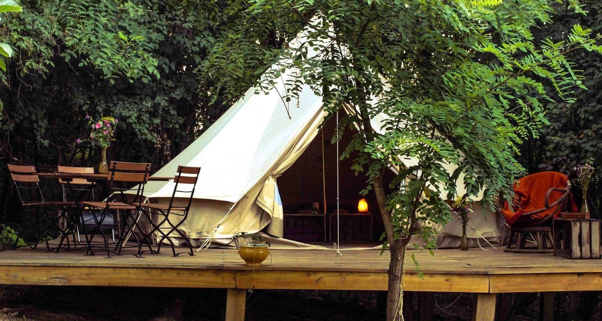 Hunza Ecolounge Glamping Sátor Tent Kívülről Outside