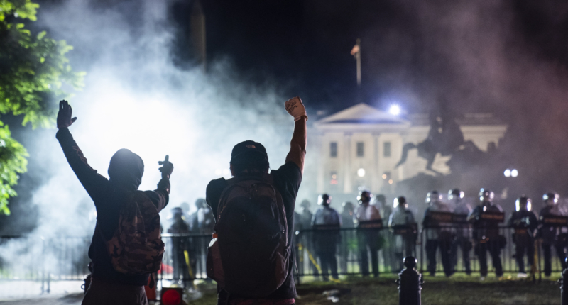 us demonstration white house