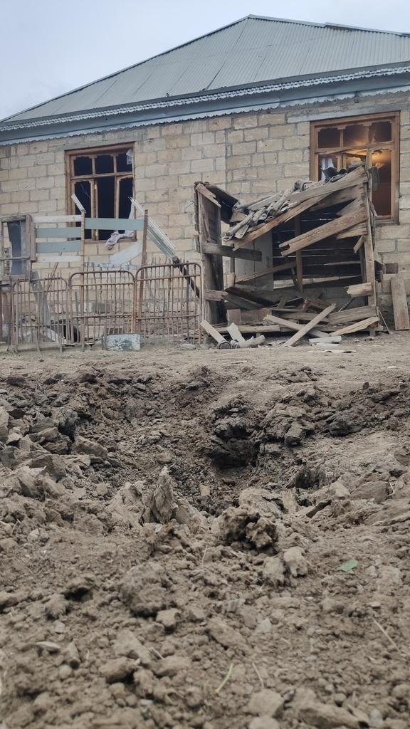 Armenian artillery shells Azerbaijani positions