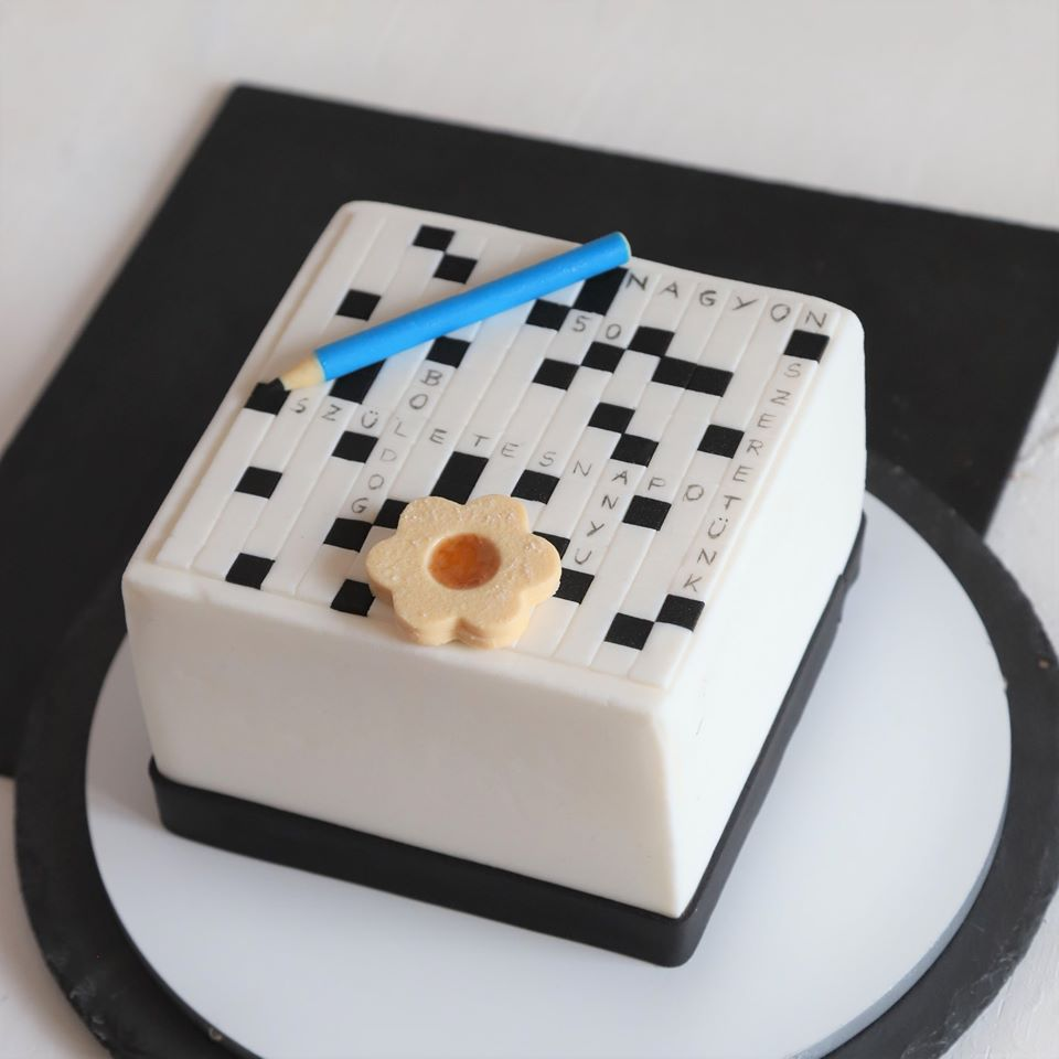 Cake to go-crossword cake-food
