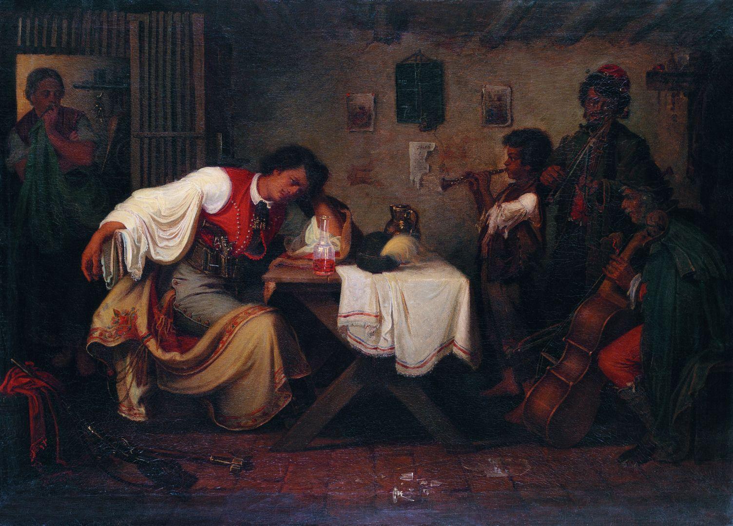 Munkácsy Búsuló Betyár Painting