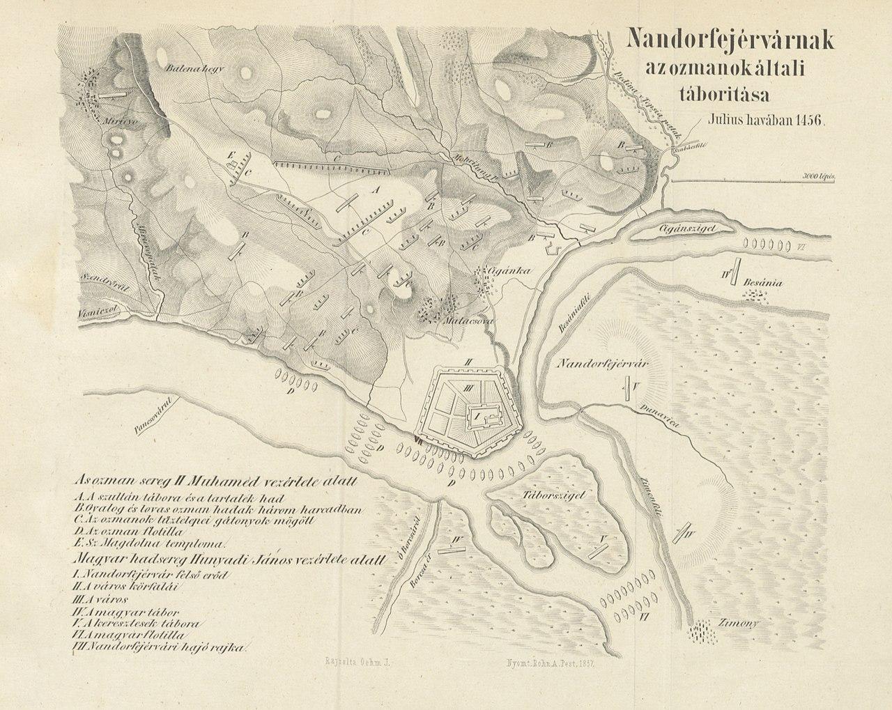Nándorfehérvári Csata Térkép Map