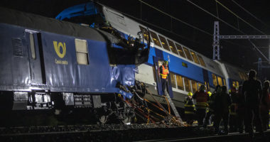 One person has died and at least 35 were injured in a collision of two trains Tuesday night near Cesky Brod, central Bohemia of the Czech Republic