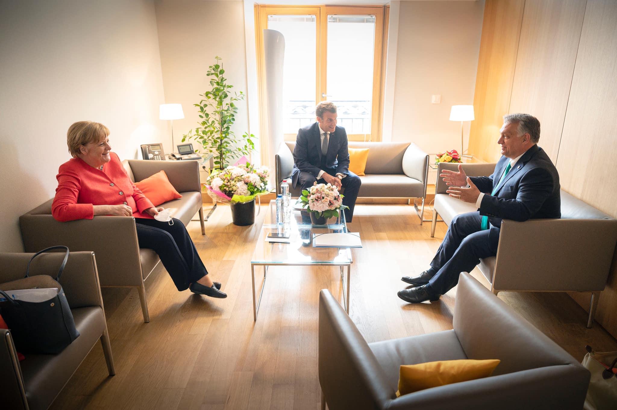 Orbán merkel macron