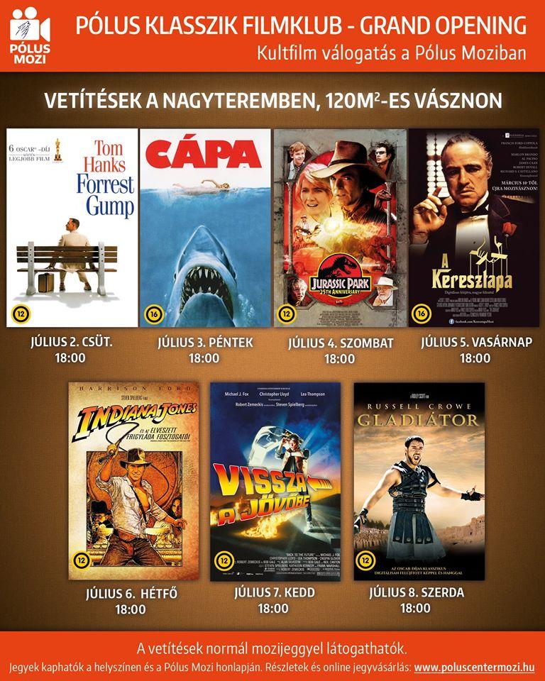Pólus Moziműsor Movie Schedule Programme Classics Klasszikusok