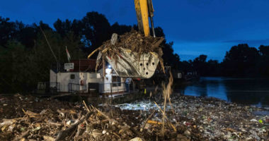 river waste