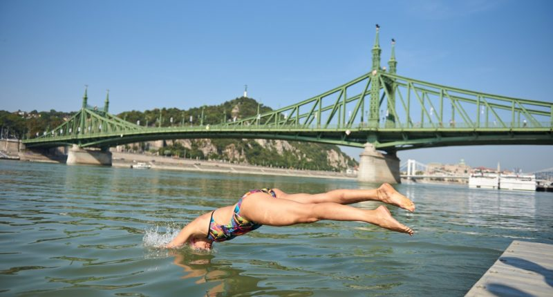 urban games budapest danube swimming