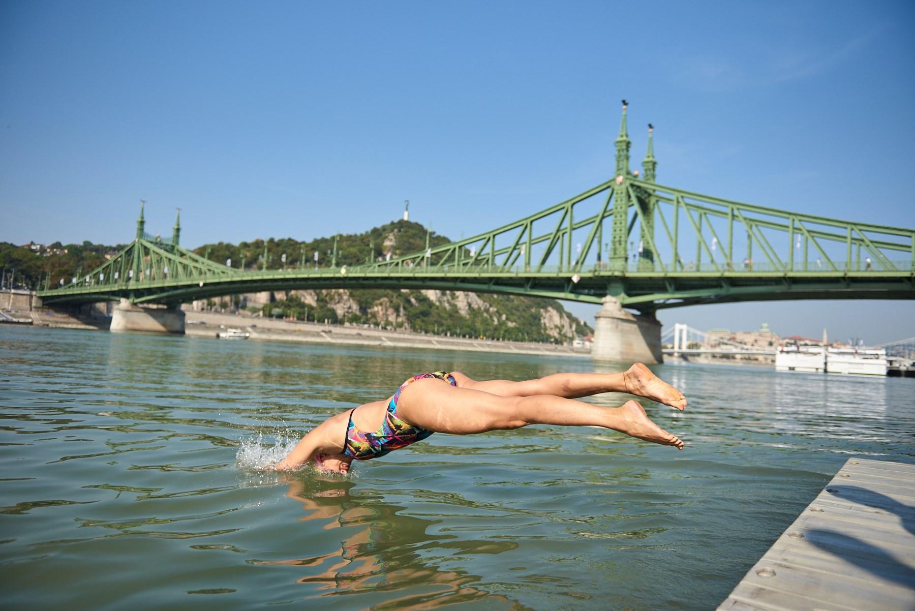 urban games budapest danube swimming