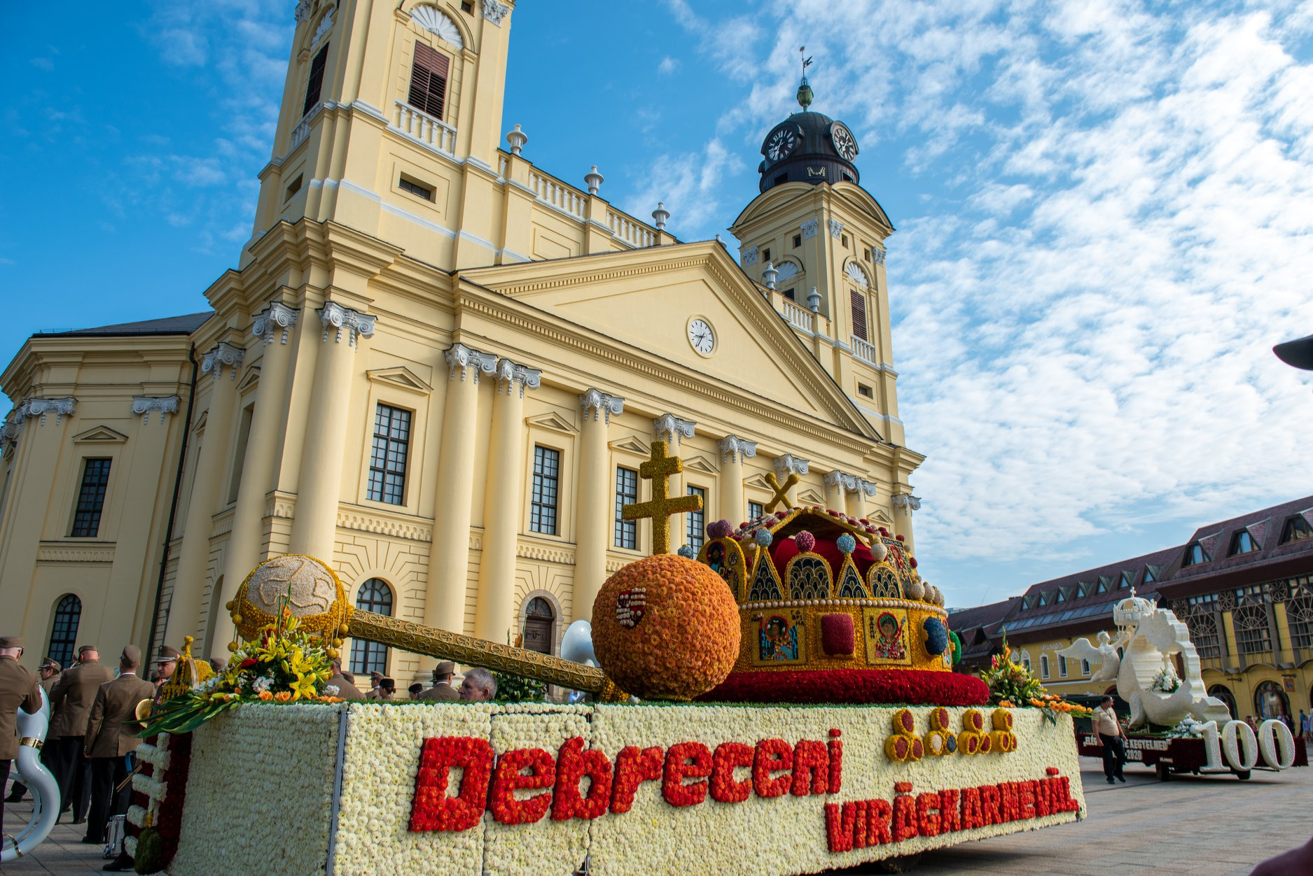 Great Reformed Church, Debrecen, Hungary, Flower Carnival