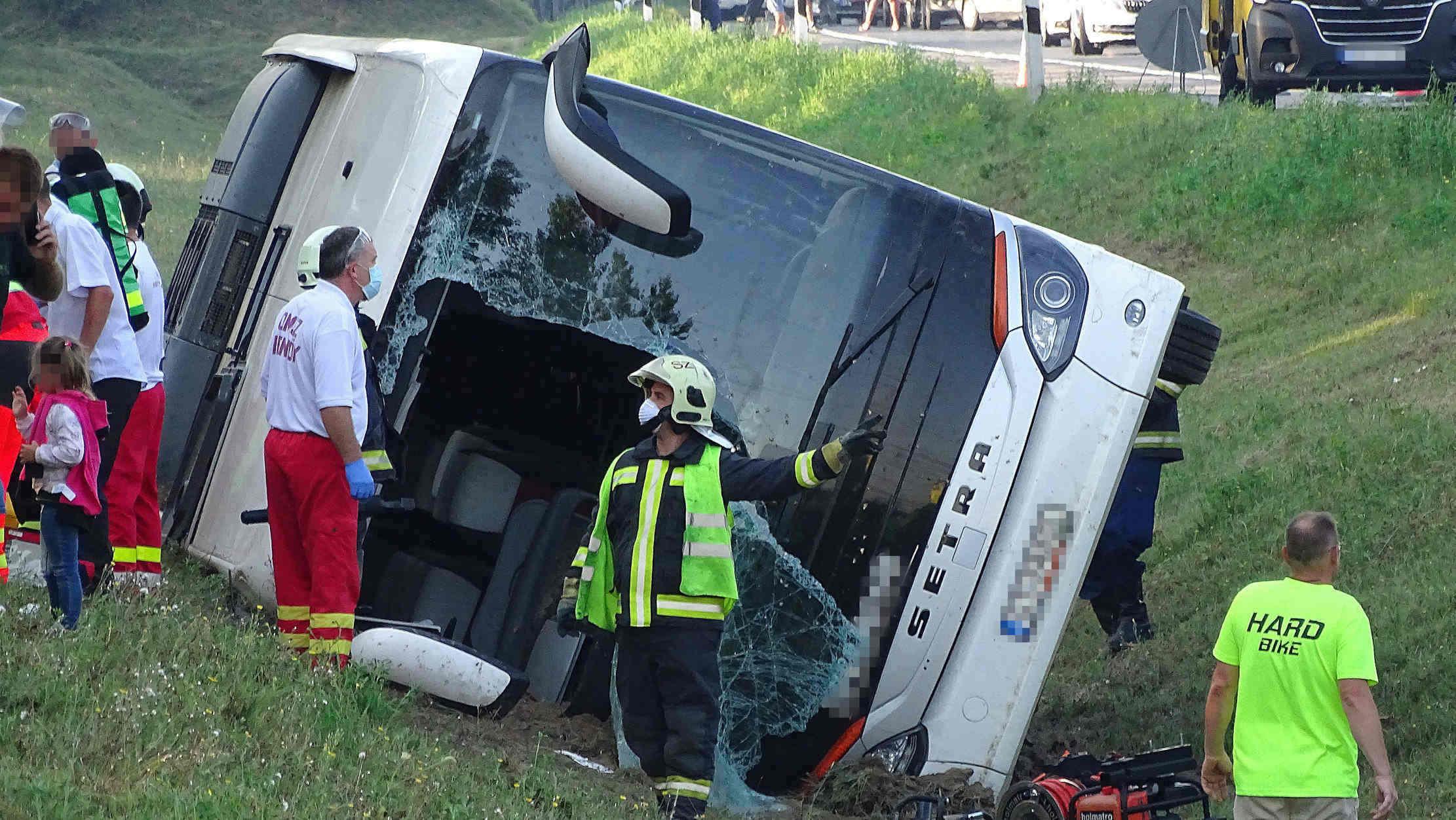 tragédie de bus en Hongrie