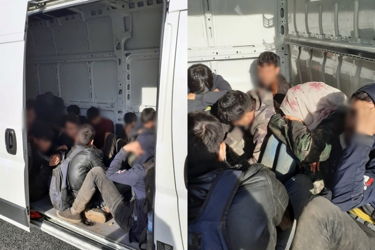 illegal migrants in truck