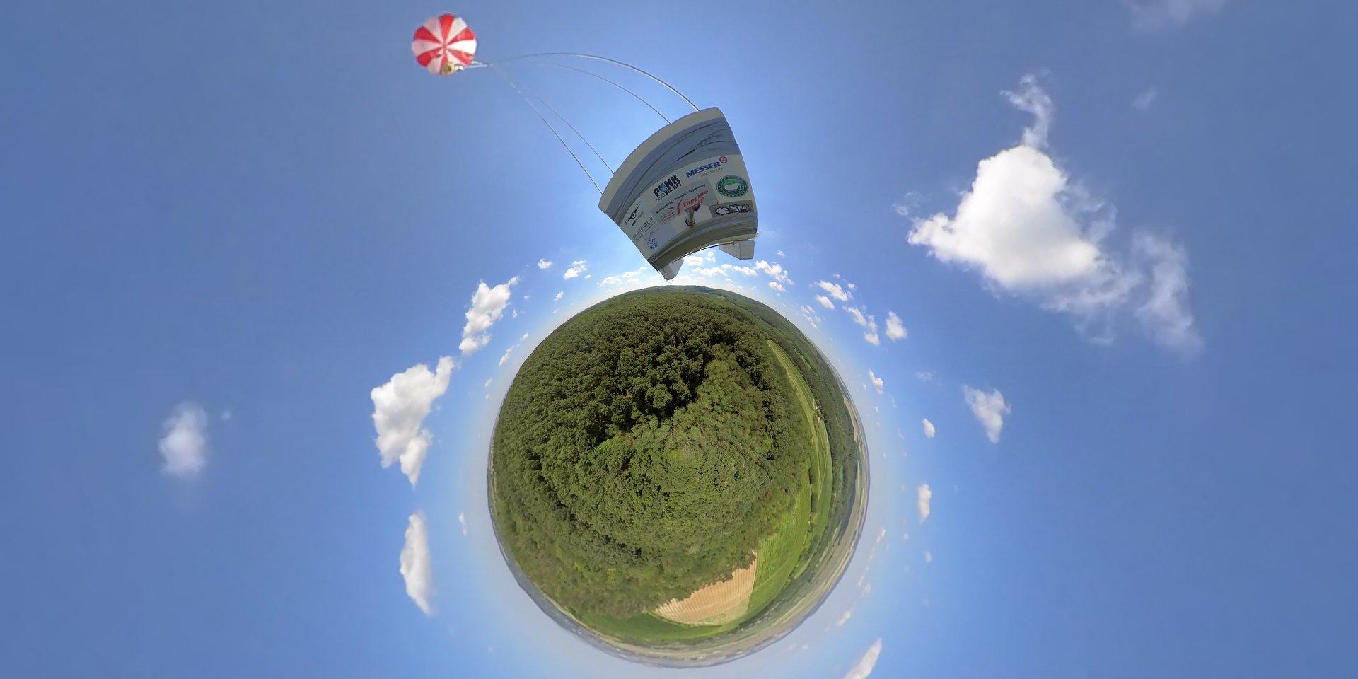 Űrbatyu II-high-altitude balloon-Hungary1